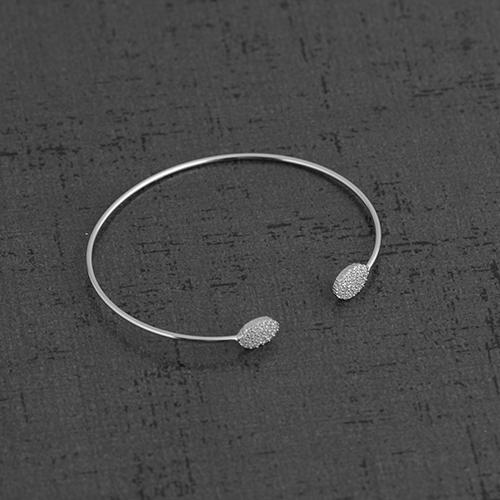 دستبند نقره BR1017-2،فروشگاه نقره اسپینل